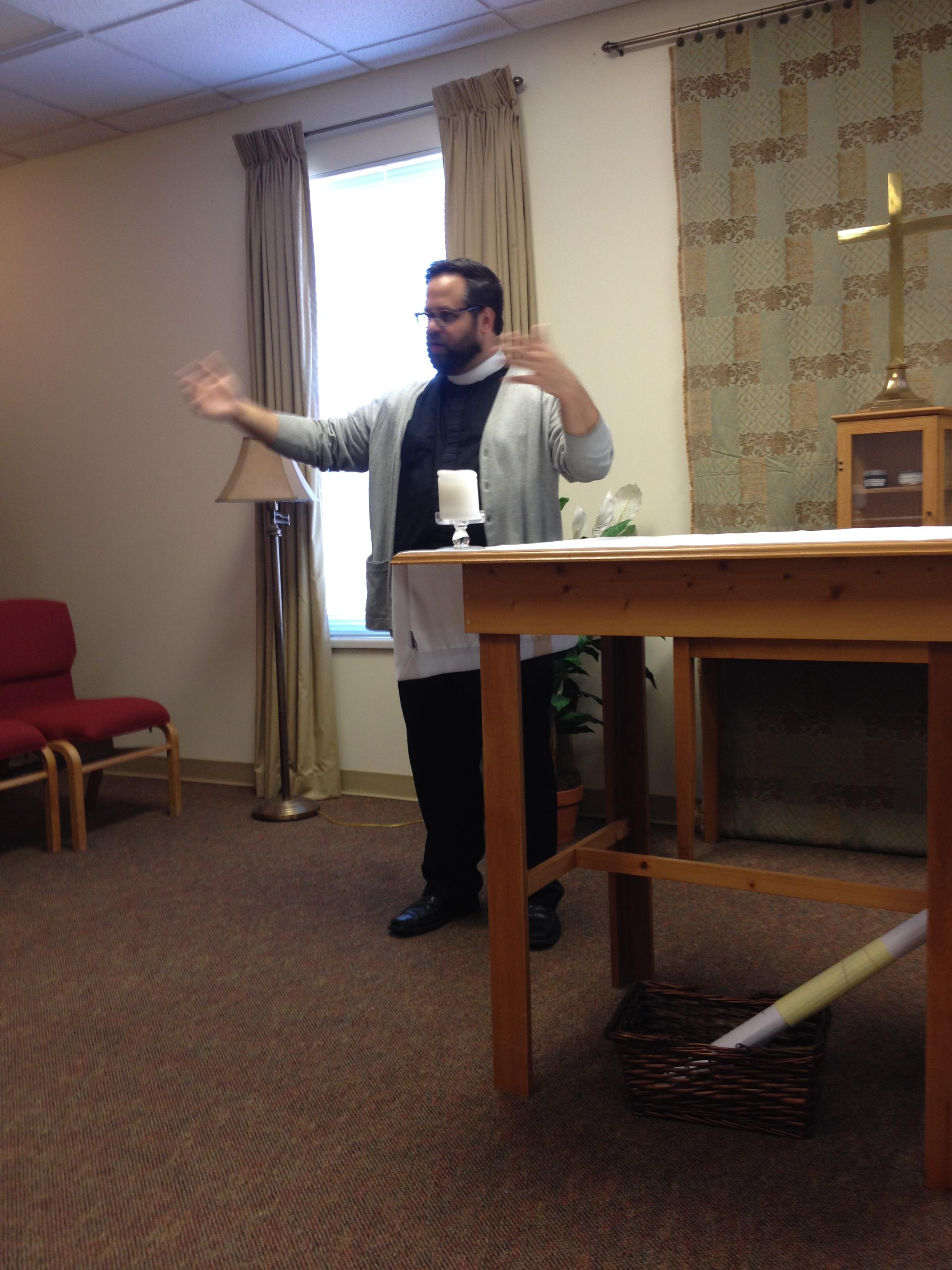 Father Jason teaching class
